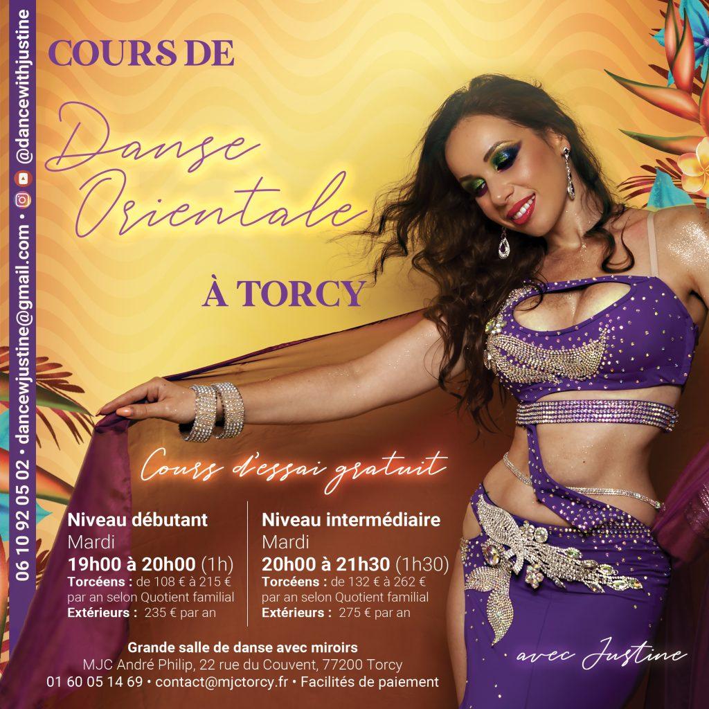 Informations cours danse orientale Torcy